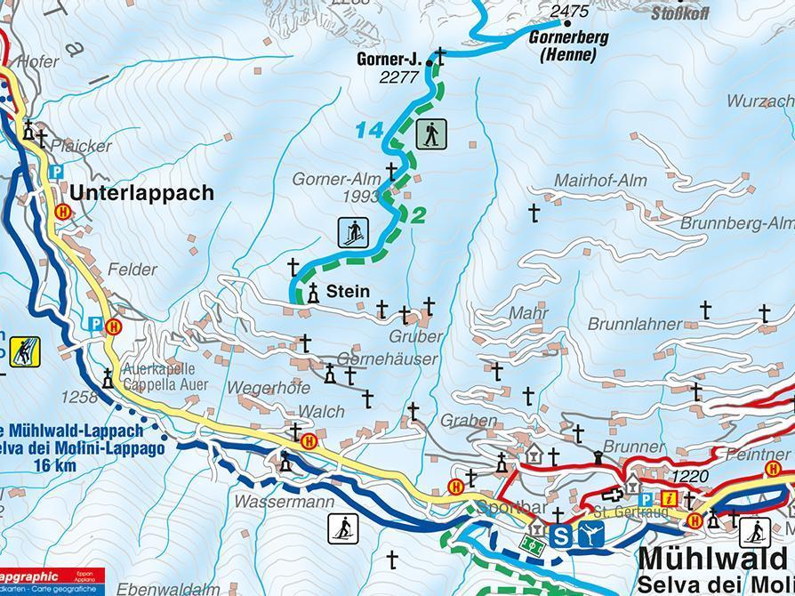 Snow-shoe hike Gornerjoch Selva dei Molini/Mühlwald