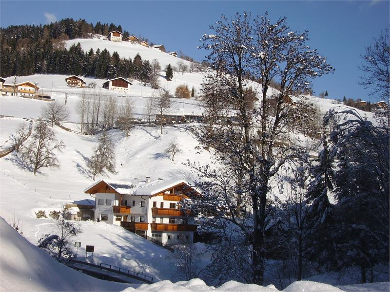 Il maso Boznermüllerhof in inverno