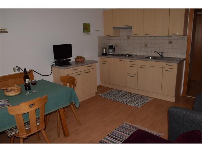 Küche Wohnung Sabine- Haus Albert Haselrieder, Völs am Schlern